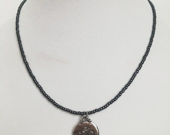 Grey Om Necklace