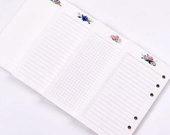 Preorder Floral A6/A5 Planner Refills