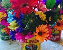 El Pato Cans Fiesta Mexican Party Wedding Decorations/Centerpieces: Set of 6 (Large Size)