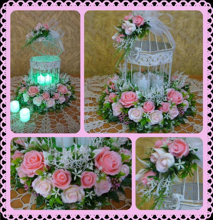 Bloemstuk bruiloft decoratie vintage vogelkooi door for Vogelkooi decoratie
