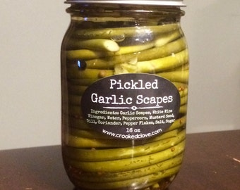 16oz Pickled Garlic Scapes
