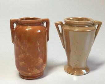 Vintage 1940s Japan Porcelain Bud Vase with Handles