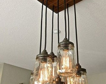 Square Mason Jar light