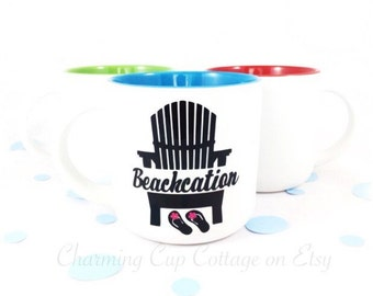 Beach Mug/Coffee Mug/Tea Mug/Tea Cup/Coffee Cup/Mugs/Coffee&Tea/Coffee Lovers/Tea Lovers/Beach Lovers/Beachcation/Cute Mugs/Mug Gifts/Coffee