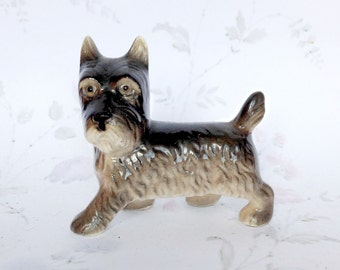 Ceramic Scottie Dog - Pottery Dog Figurine - China Westie - Dog Collectible