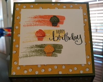 Square birthday card