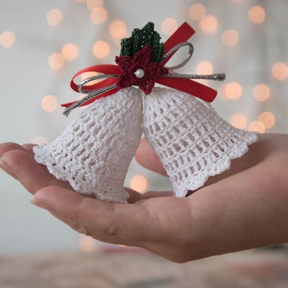crochet christmas ornaments crochet christmas tree toy bells. Black Bedroom Furniture Sets. Home Design Ideas
