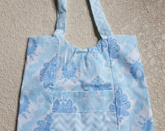 Blue Paisley Purse