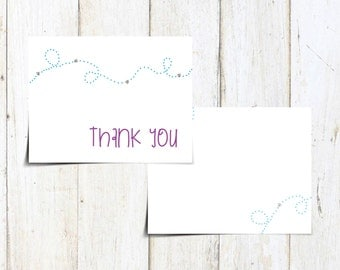 Cute Buzzing Bee Thank You Cards - Printable PDF
