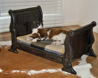 Pet Timber Sleigh Bed for Dog, Cat, Reborn