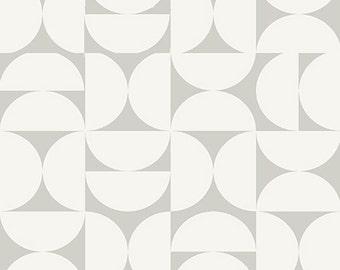Grey Fabric- Curtain Fabric- Cotton Fabric- Geo Fabric- Scandinavian Fabric- Designer Fabric- Contemporary Fabric- Modern Fabric