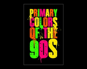 Primary Colors of the 90s Print