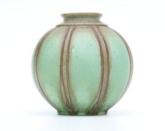 Turquoise gourd vase, ceramic