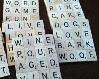 Scrabble Cork Coasters