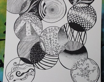 Zentangle drawing / Zentangle Untitled drawing no.. 4