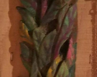 Hand carved and painted Fireweed