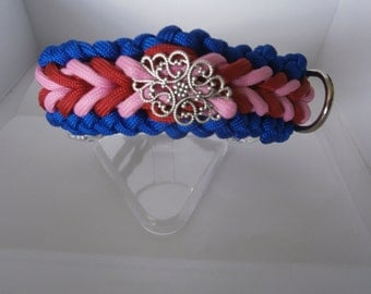 Dog collar parachute cord with adjustable Biothane closure