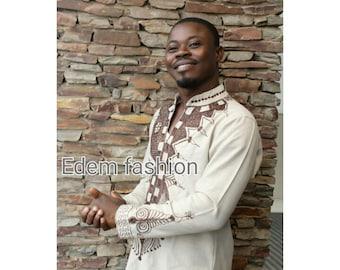 chemise homme africain etsy. Black Bedroom Furniture Sets. Home Design Ideas