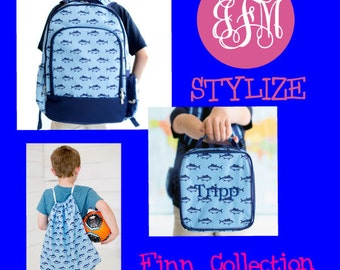 Finn Collection, FREE Personalization, Back to School, Gym Bag, backpack, boys backpack Boys Gym Bag