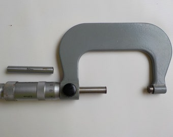 Vintage USSR  micrometer 50-75 mm - Industrial factory  tool - Soviet precision tool