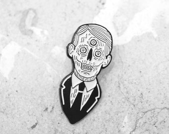 Enamel Pin - Demon Mp - Jim Hollingworth - Skull