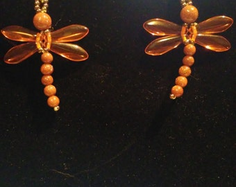 DRAGON FLY GOLDSTONE Earrings
