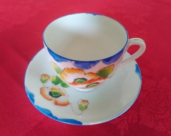 Foreign Fine China Cup and Saucer