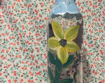 painted reusable bottle