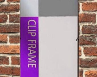 "10x8"" Ultra slim clip frameless Photo Picture  Frame 254 x 203mm"
