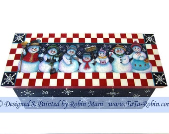 195 - Snowflakes Stop Here! Decorative Painting Pattern Packet-