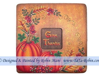 246 Give Thanks Decorative Painting Pattern