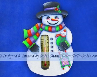 313 Snoball's Sled Decorative Painting Pattern