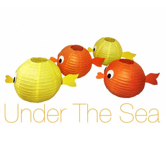 Fish paper lantern decorations for Fish paper lanterns