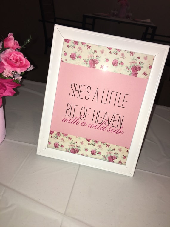 Floral Baby Girl Frames Quotes/ Art