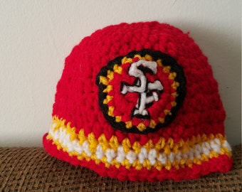 Custom sf49rs  crochet beanie