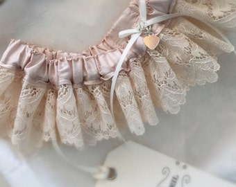 Editha Silk + Lace Bridal Garter - Wedding Accessories - Bridal Lingerie