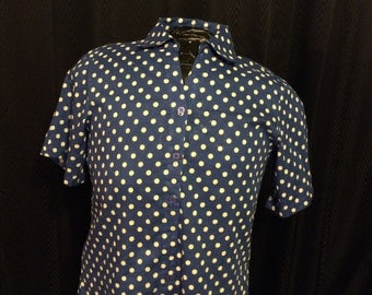 SOLD do not buy 90s Polka Dot Button Up