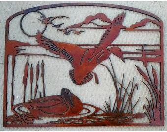 Ducks on the Marsh