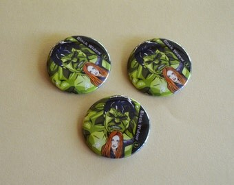 Hulk & Black Widow button