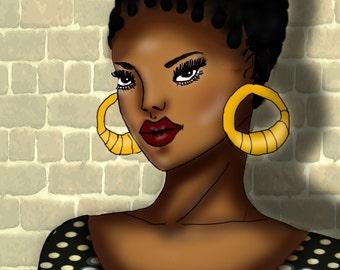 Illustration fashion girl