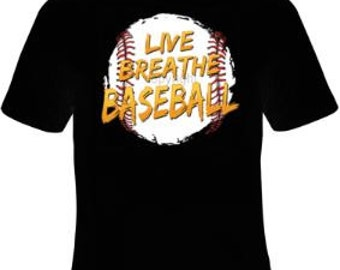 Baseball T-shirt, Baseball Apparel, Baseball Tee, Baseball