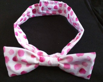 Pink Polka Dot Bow Tie (child's)