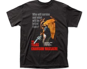Texas Chainsaw Massacre  Bizarre & Brutal Crimes! Traditional Fit 18/1 Cotton Tee (TCM01) Black