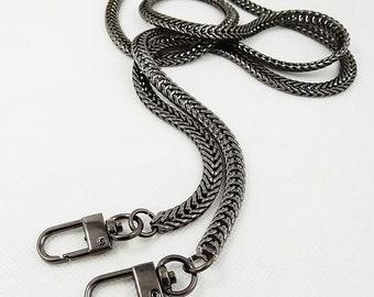 7mm Gunmetal Purse Snake Chain, Purse Full Copper Chain style 56