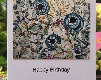 Seed Pods Greetings Card