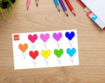 Bright Balloons Stickersheet