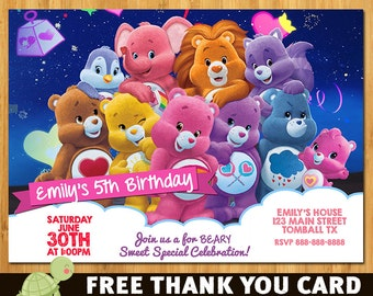 Care Bears Birthday Party Invitation