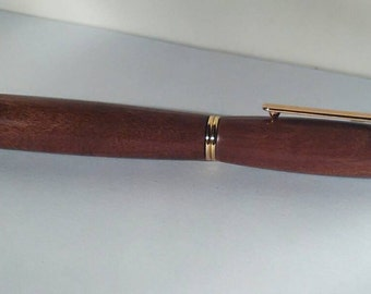 Gift idea mahogany handmade fountain pen