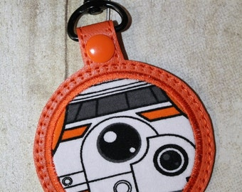 "OrangeEyedRobot ""The Circle"" Bag Tag Keychain"