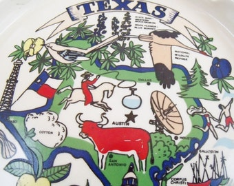 State of Texas Ashtray Cities Resources Colorful  (76)